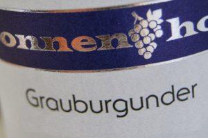 Sonnenhof Etikett Grauburgunder